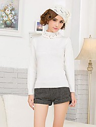 ICED™ Women's Fashion High Collar Nail bead Pullover Sweater