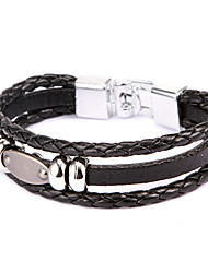 style punk plaque plane bracelet en cuir d'alliage (1 pc)