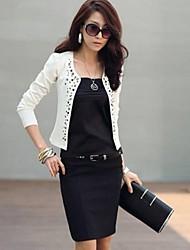 moda feminina manga longa fino blazer