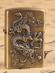 bronze motif en relief de dragon briquet à pétrole