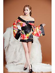 notte flre floreale kimono della stampa di moda biancheria intima sexy delle donne