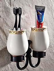 масло потер бронзовый настенный держатель для двух стаканов