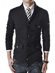 Men's Long Sleeve Jacket Casual/Work/Formal Pure