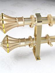 Aluminum Alloy Spray Gold Smooth Emperor Spent Rome Rod Curtain Double Rod 00102-03
