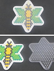 1PCS Template Clear Pegboard Bee Pattern for 5mm Hama Beads Perler Beads Fuse Beads