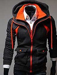 Men's Long Sleeve Regular Coat , Cotton Pure