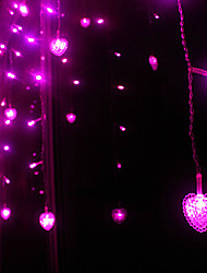 LED Light String 20 Lights Waterproof Heart Shape Resin 220V 3m