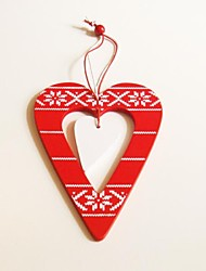 Christmas Hanging Decoratives  Love Heary Shape 1 PC MDF Materiels for Christmas Decorations