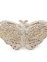 Мисс ricy женские формы кристалла бабочка вечерние сумочки / муфты