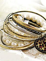 d&x-2 der Frauen-Leopard-Herz Perle vintage Armband
