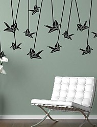 Wall Stickers Wall Decals,  Modern Origami PVC Wall Stickers