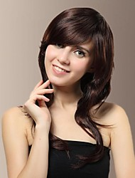 Fashionable Side Bangs Long Curly Hair Wigs