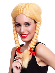 Country Girl Twist Braid Style Golden 40cm Women's Halloween Party Wig
