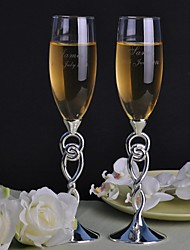 Personalized Toasting Flutes Love Wound- Set of 2
