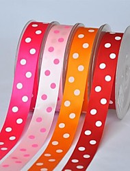 7/8 Inch Polyester Color Buty Belt Printing Ink Dot Two Oblique Dot Ribbon- 25 Yards Per Roll (More Colors)
