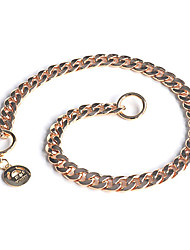 Metal P Chain Adjustable Collars for Pets Dogs Assorted Color