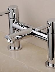 Bathtub Faucet - Contemporary Brass (Chrome)