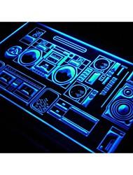 S107 home theater hi fi luce al neon negozio segnaletica
