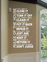 JiuBai™  House Rule Quote Wall Sticker Wall Decal