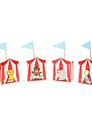 Boîtes à cadeaux Faveurs et cadeaux de fête Baby shower/Anniversaire Thème de conte de fées Rectangulaire Non personnalisé Papier durci
