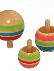 madeira cor pino girando inversa top brinquedos (conjunto de 3)