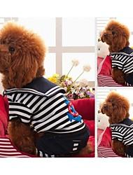 Hunde T-shirt Rot / Schwarz / Weiss Hundekleidung Winter Streifen