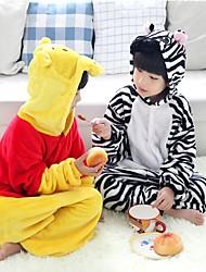 Kigurumi Festival/Celebración Traje de Halloween Blanco / Negro Halloween / Carnaval Niño Franela
