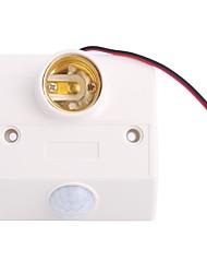 E27 LED Light Base Motion Sensor Lamp Holder (AC 180V-250V)