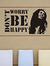 stickers muraux autocollants de mur, ne vous inquiétez pas muraux PVC heureux autocollants