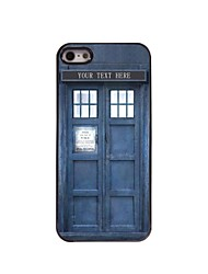 Personalized Gift Police Box Design Metal Case for iPhone 5/5S