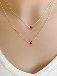 Women's European Fashion Crystal  Alloy Skinny Pendant Necklace (1 Pc)