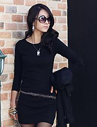 xiaonvren Bodycon Shirt_X68(Black,White)