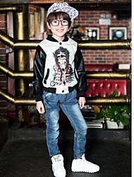 Boy's Grid Pocket Jeans