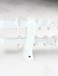 Modern Aluminum Alloy Spray Ivory White Plum Dlossom Word Dack Curtain Double Rod 0102-02
