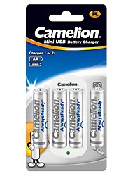Camelion Standard Charger for AA/AAA Battery with 4pcs AlwaysReady 800mAh Ni-MH AAA Rechargeable Batteries