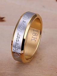 мода контраст цвета письмо печати кольцо