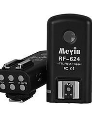 meyin disparador de flash de alta velocidade sem fio rf-624 para Nikon