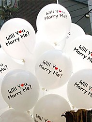 """20 PCS 12"""" Balloons"""" Will you marry me"""" Natural Latex Sign for Party Decoration Wedding"""