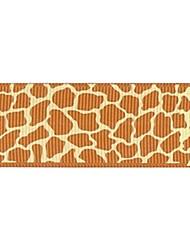 Impressão em fita padrão gramado africano Girafa costela 3/8 polegadas da fita 25 metros por rolo (mais cores)