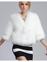 Women's The Fox Fur Coat Short Paragraph Coat