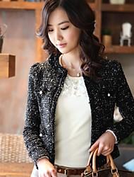 Xier мода осень короткий корпус верхней одежды