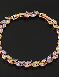 U7 luxe en or 18 carats plaqué platine bracelet