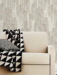 mur papier mural, arbres contemporains / feuilles papier peint de PVC