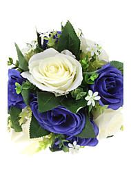 """Bouquets de Noiva Redondo Rosas Buquês Casamento Poliéster 9.84""""(Aprox.25cm)"""