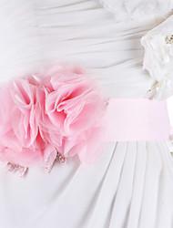 Mousseline de soie Mariage Ceinture-Strass Femme Strass