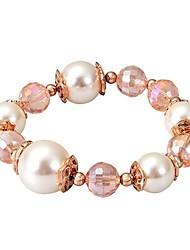 Viennois® Fashion Women's Rose Gold Plated Swarovski Elements Pearl Bracelet Chain 1 Pc