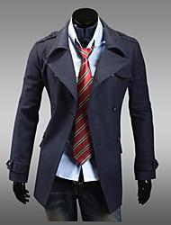 lapela pescoço dupla bodycon mama casaco de tweed dos homens devaneio