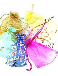 50pcs Coway 7 * 9 * sacchetto impaccante di monili 2 colori (colore casuale)