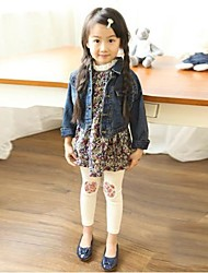Girl's Blue / Beige Leggings,Print Cotton Blend Winter / Spring / Fall