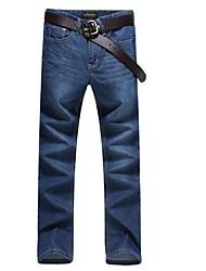 Männer Taille gerade Jeans Hose